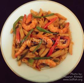 চিংড়ি পাস্তা (Prawn/Shrimp Pasta)