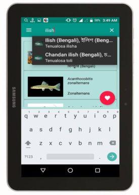Fishes of BD এর সার্চ অপশন