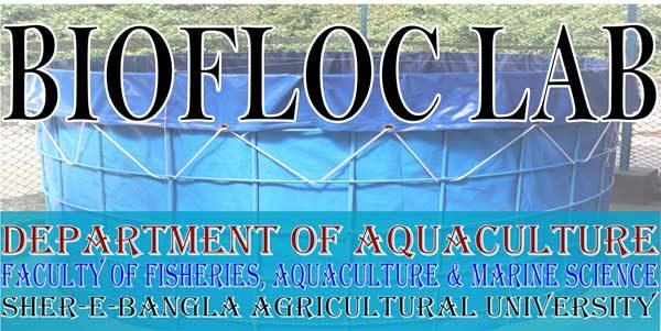 Biofloc lab at SAU, Dhaka